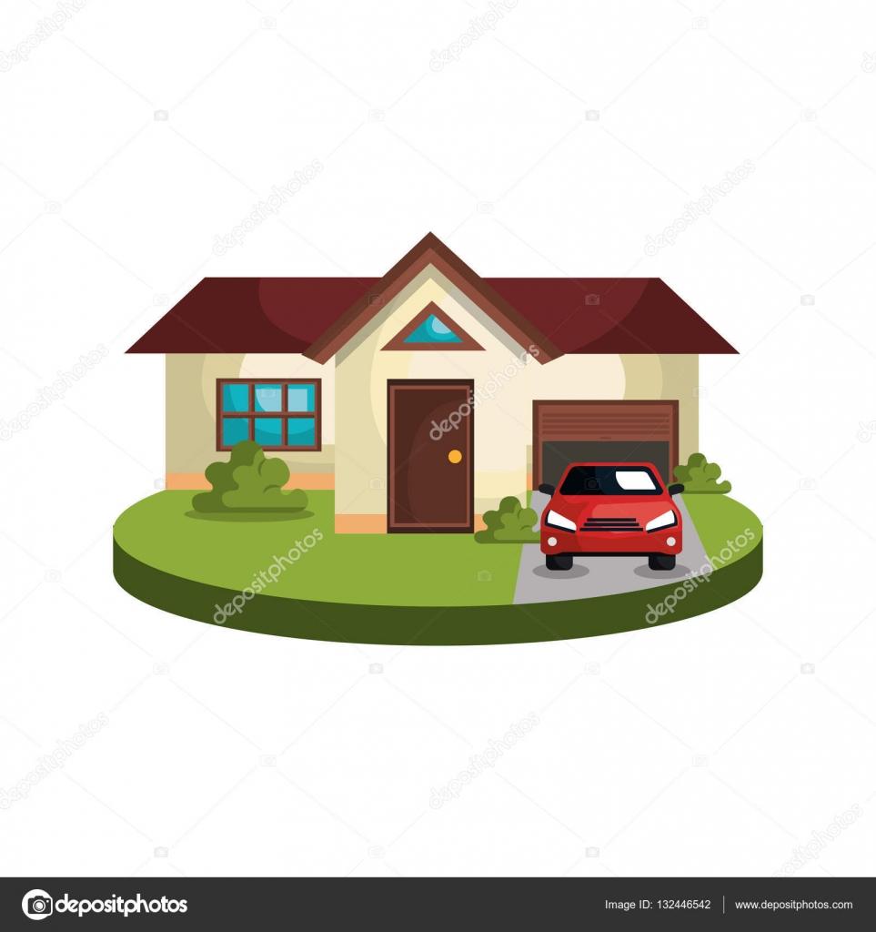 schönes Haus außen Symbol — Stockvektor © yupiramos #132446542