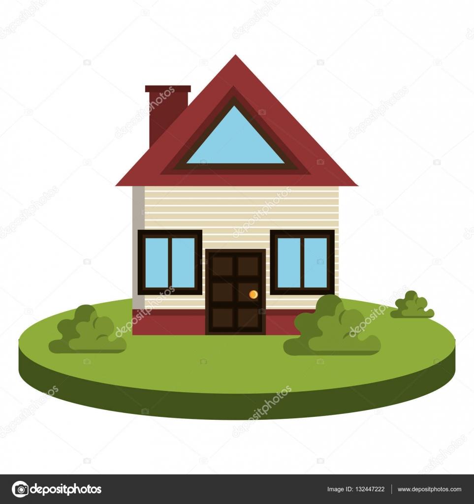 schönes Haus außen Symbol — Stockvektor © yupiramos #132447222