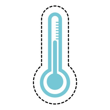 Thermometer device isolated icon vector illustration design clip art vector