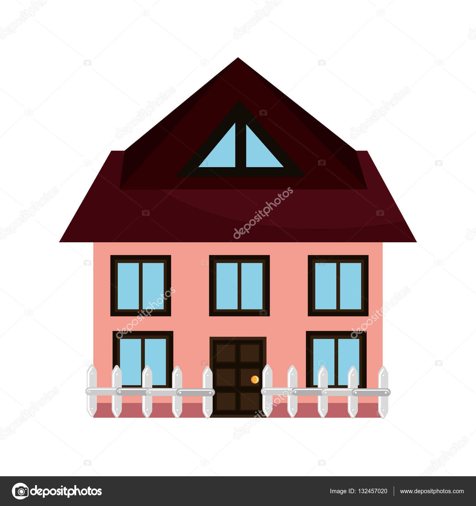 schönes Haus außen Symbol — Stockvektor © yupiramos #132457020
