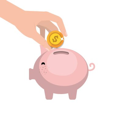 piggy savings money icon