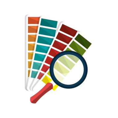 magnifying glass with palette designer