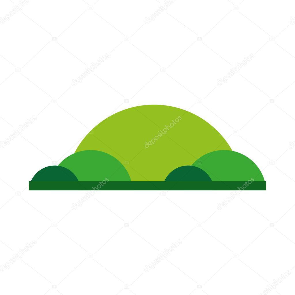 mountains green emblem icon