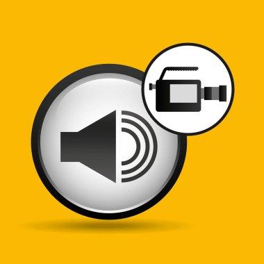 video production concept sound graphic