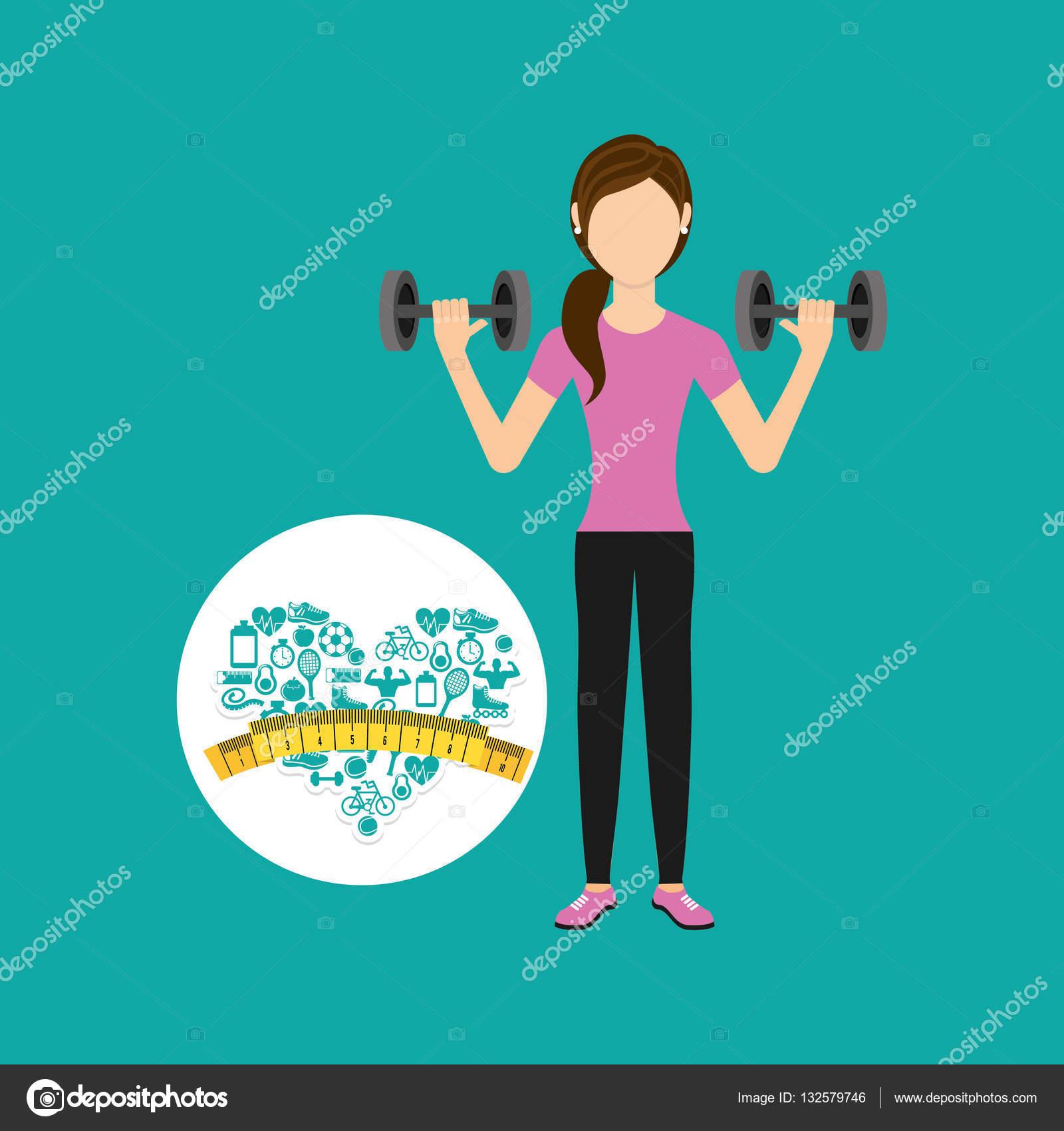 Coraz n peso p rdida deporte chica acondicionamiento for Acondicionamiento fisico
