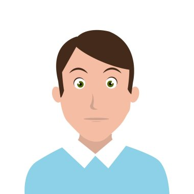 man character facial expression