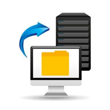 pc data base file folder arrow