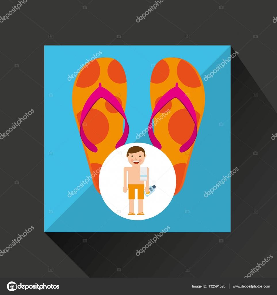 Pantalones Vector Cortos — Toalla Playa Sandalias Hombre Vacaciones EY2DHIW9