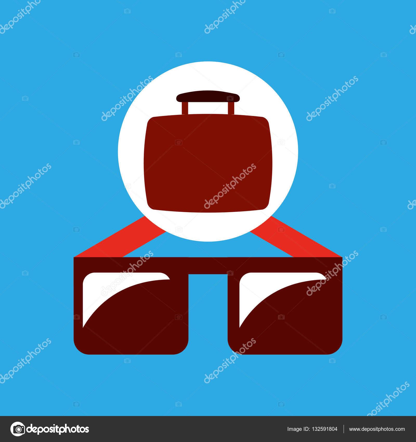 旅行のコンセプトのおしゃれなサングラス — ストックベクター