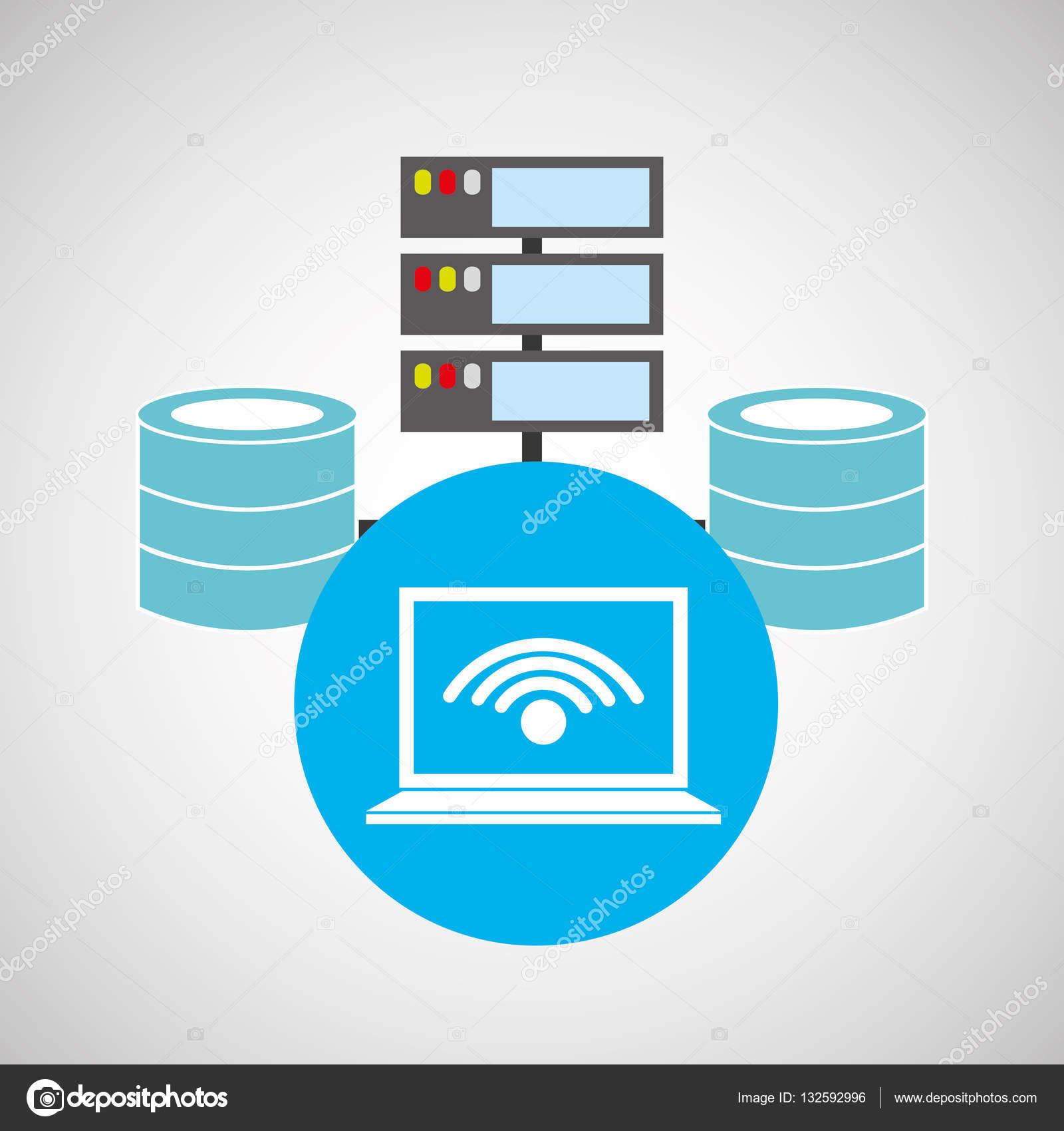 Přenosný Wifi Jazyk Základní úložný Prostor Stock Vektor