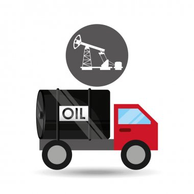 tank truck oil pumping graphic