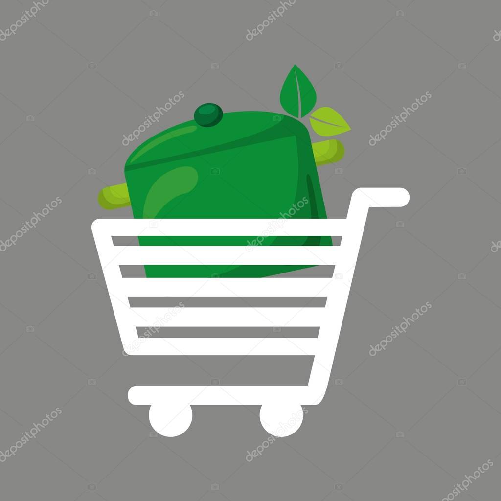 shopping cart food vegan