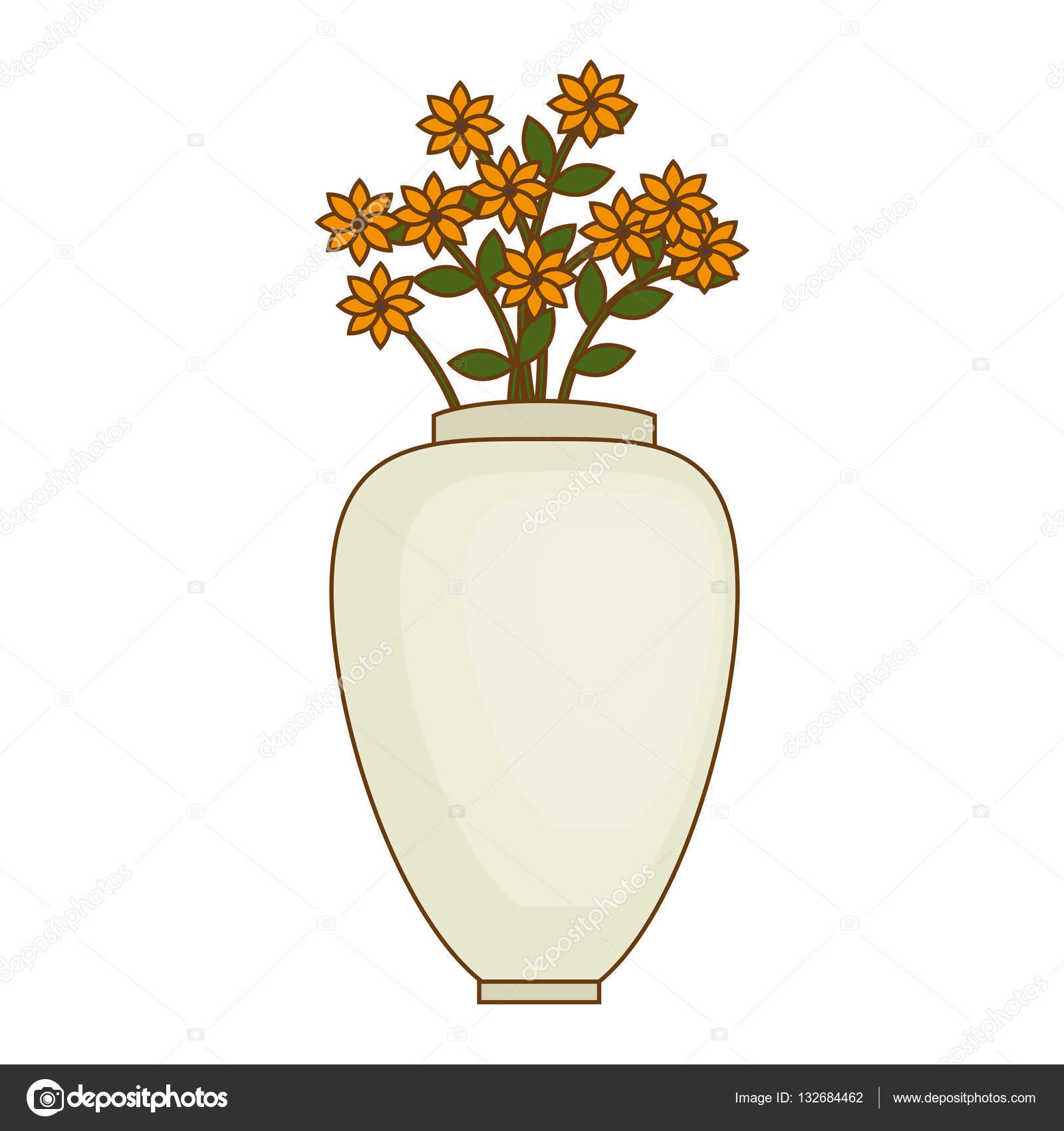Áˆ Of Vases With Flowers Stock Drawings Royalty Free Flower Vase Pictures Download On Depositphotos