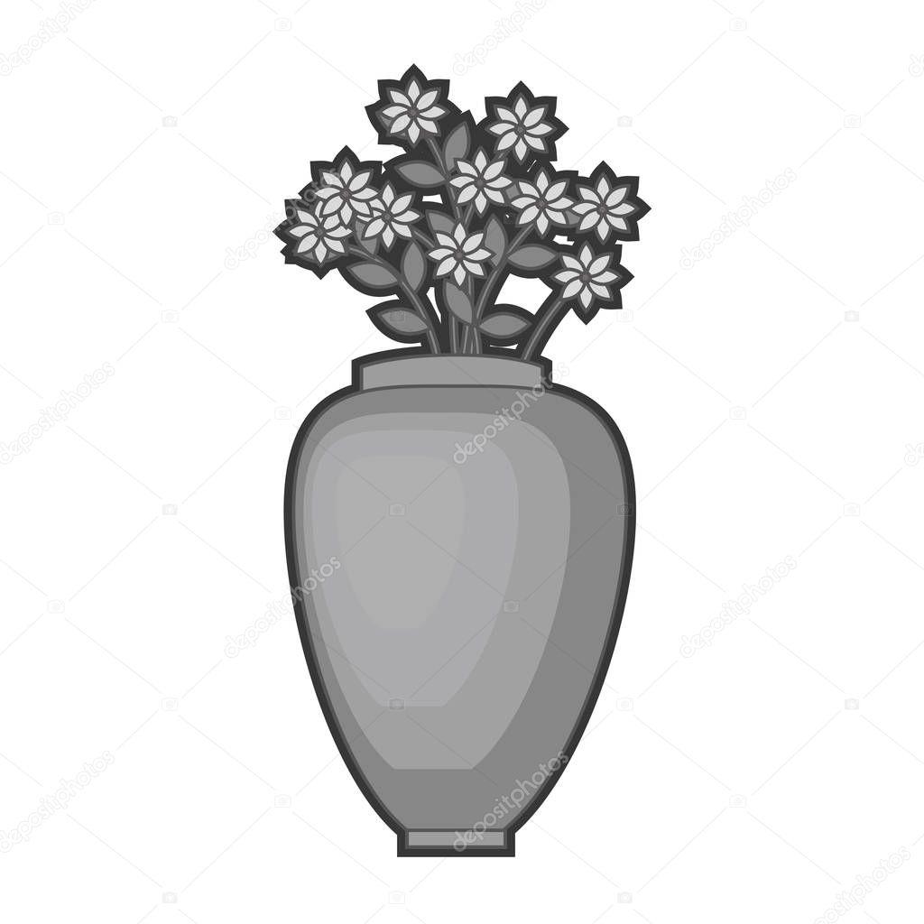 flower vase isolated icon