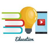Online vzdělávání sada ikon