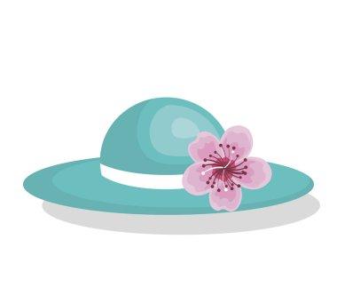 hat female fashion isolated icon