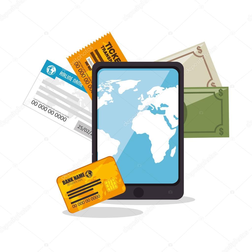Buy Travel Tickets Online: 스톡 벡터 © Yupiramos #132950808