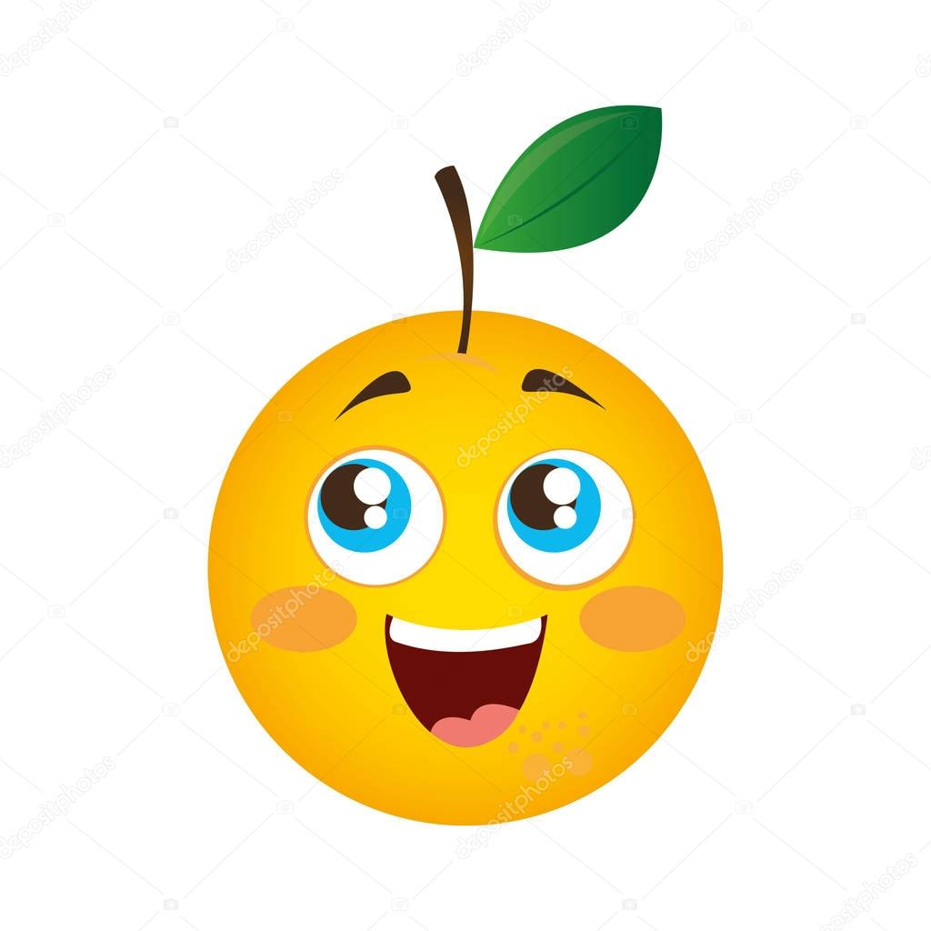 orange fresh fruit icon