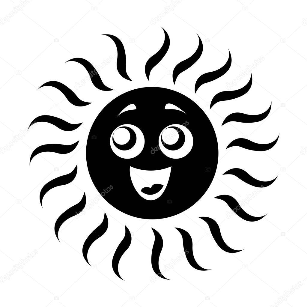 summer sun isolated icon
