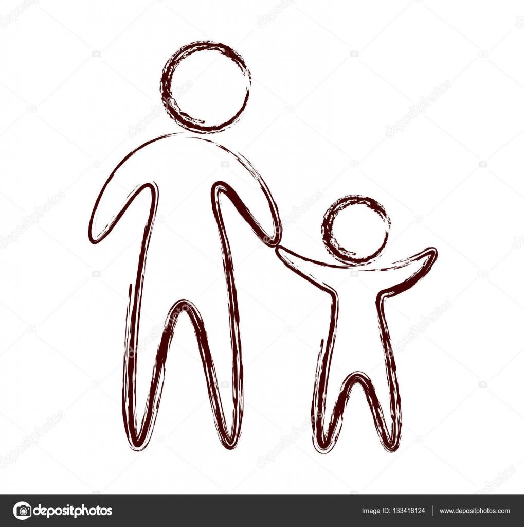 familie eltern silhouette isoliert symbol stockvektor yupiramos 133418124. Black Bedroom Furniture Sets. Home Design Ideas