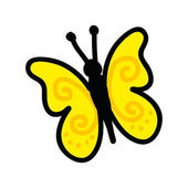 cute butterfly drawing icon