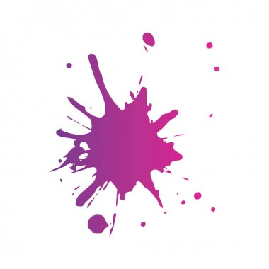 splash paint isolated icon