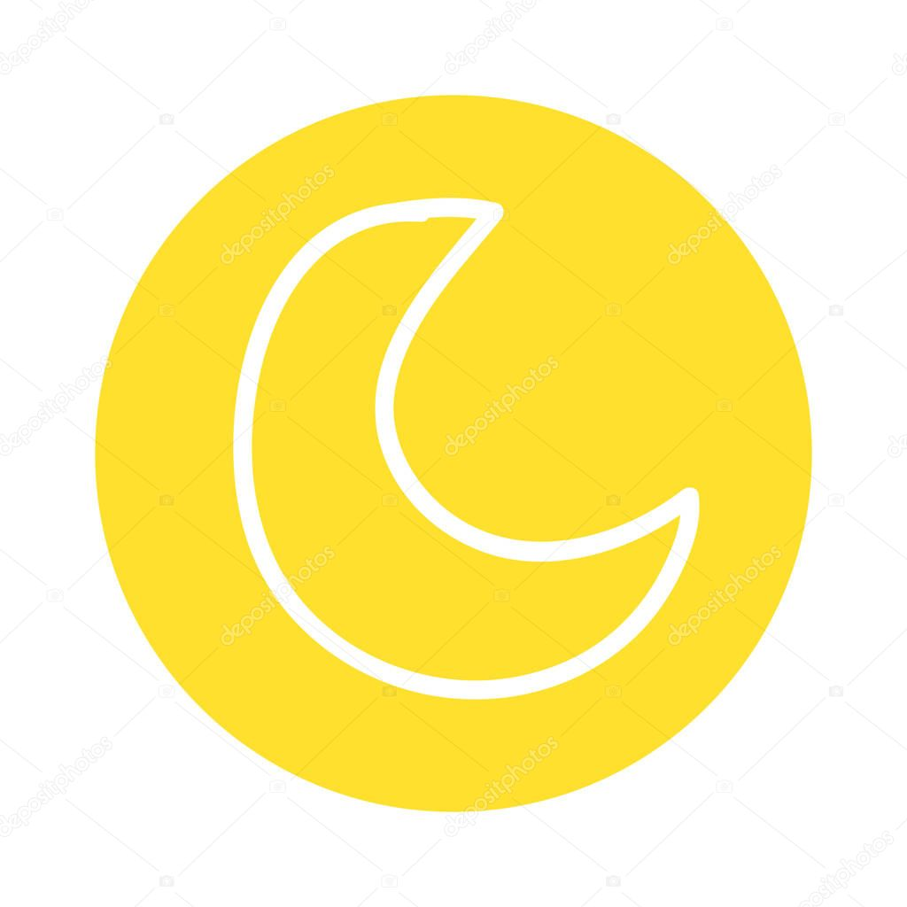 cute moon isolated icon