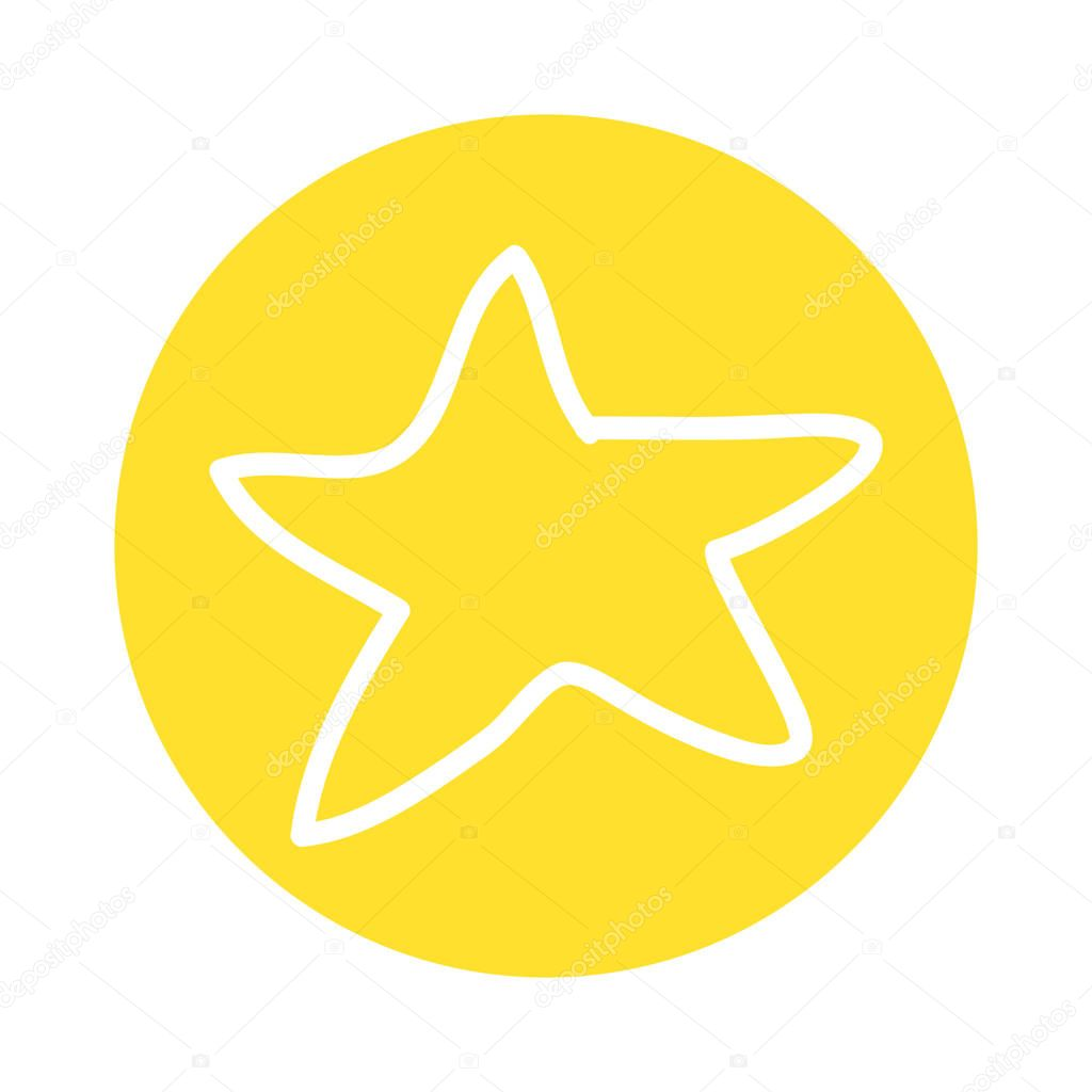 star decoration silhouette icon