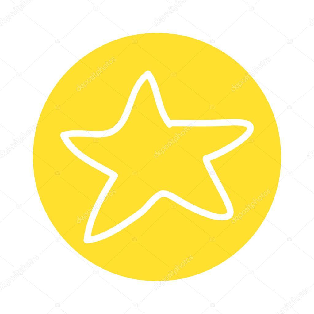 star decoration silhouette icon