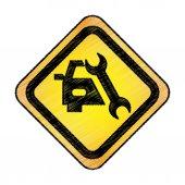 Fotografie Auto-Reparatur-Service-isolierten Symbol