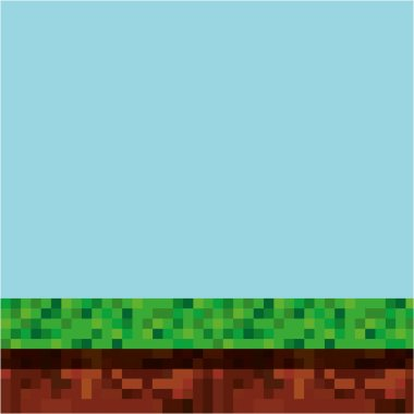 Game scene pixelated background vector illustration design stock vector