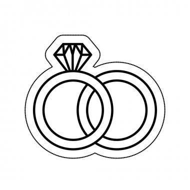 wedding ring isolated icon