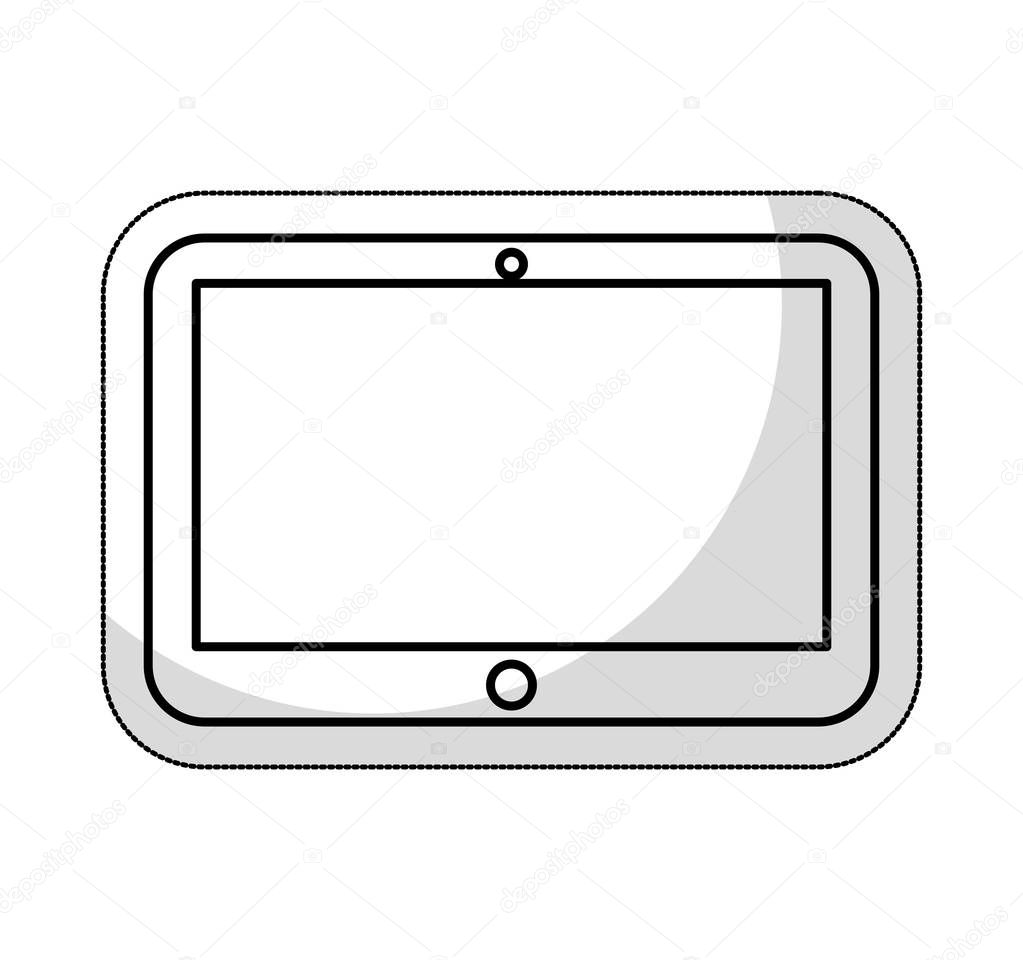 tablet technology line icon