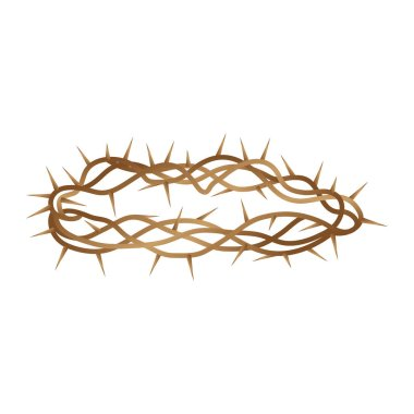 Crown of thorns isolated icon