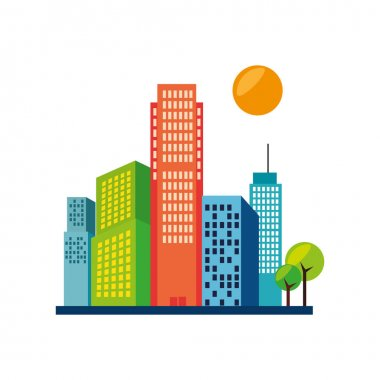 great city buildings icon