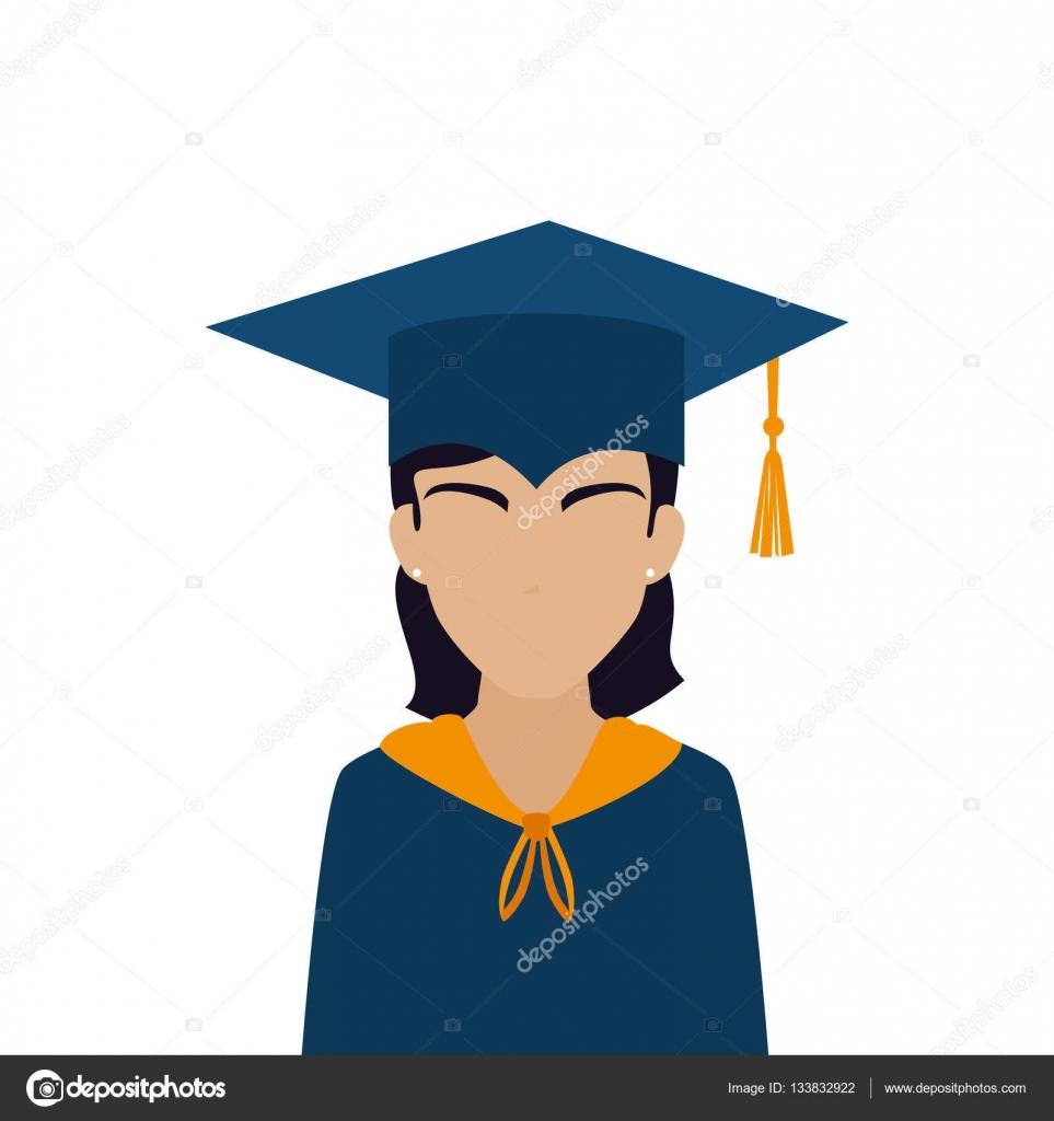 student graduation uniform icon � stock vector 169 yupiramos