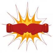 boksz-kesztyűket berendezések ikon