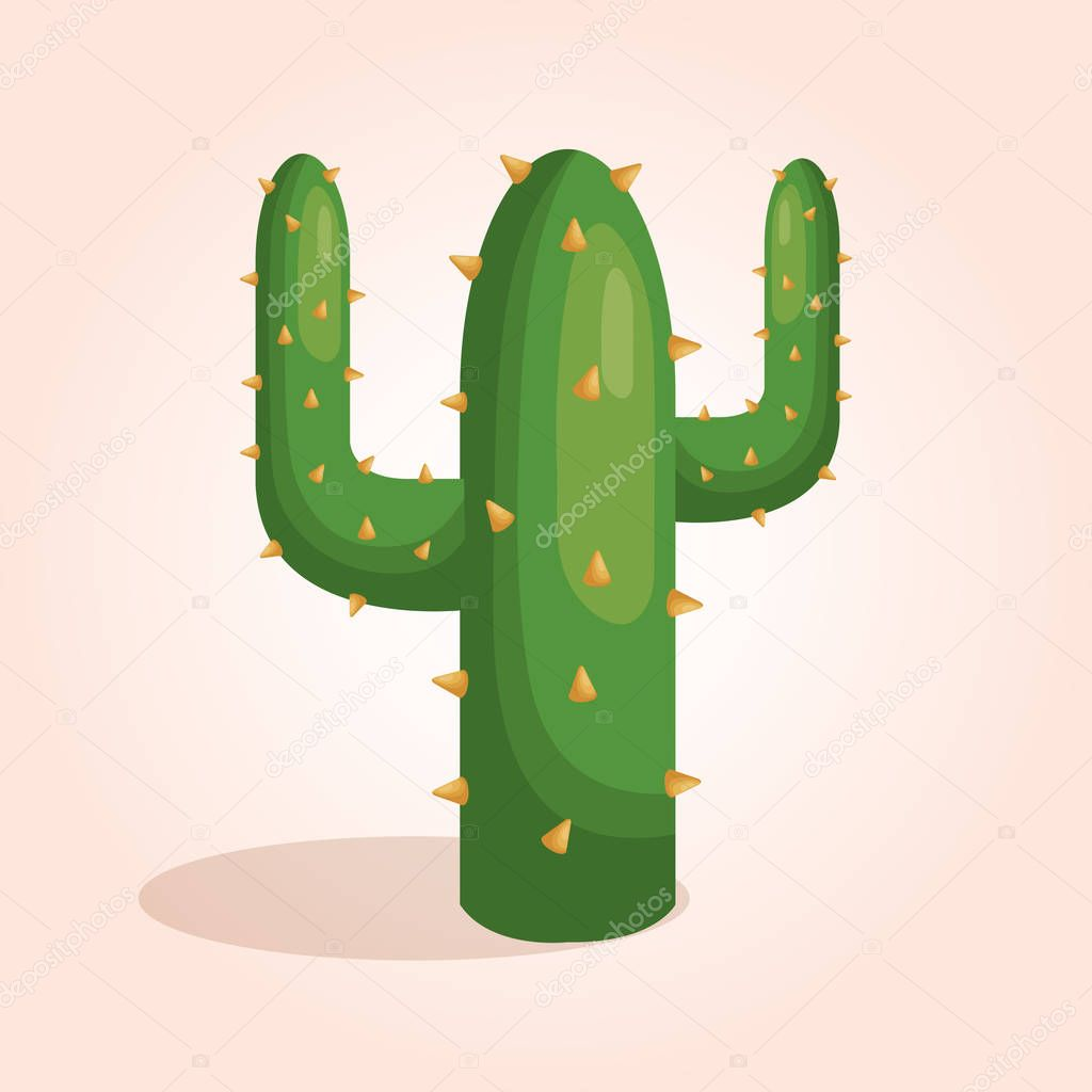 mexican cactus character icon
