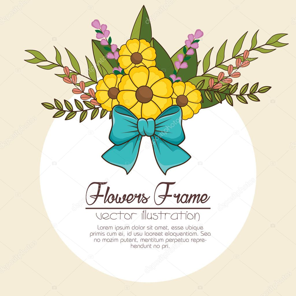 flowers beautiful frame decorative
