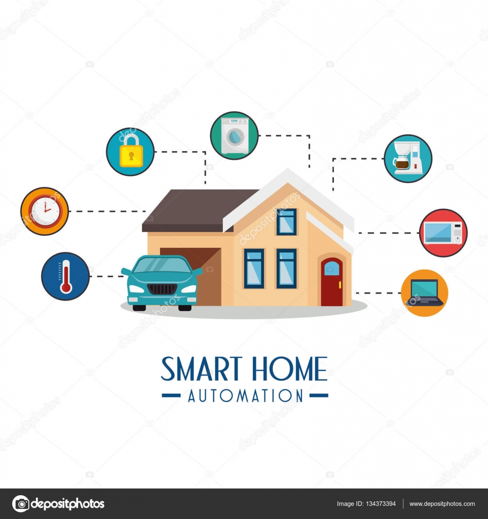 Smart Home Automation Tech Stock Vector Yupiramos