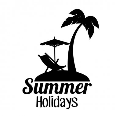 summer holidays travel icon