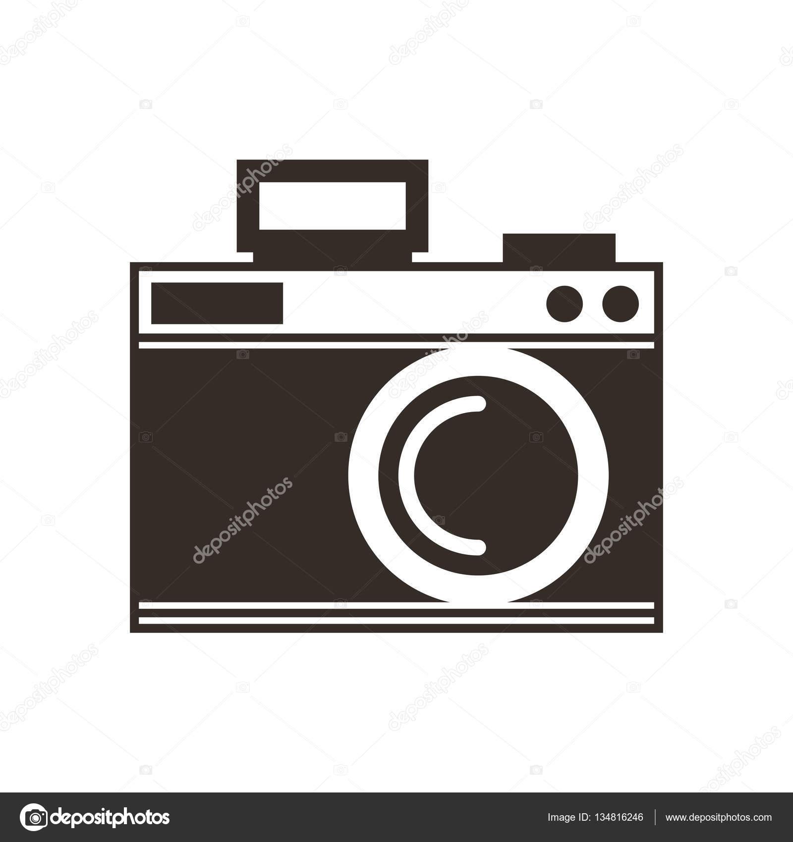 Muito ícone de desenho câmera fotográfica — Vetor de Stock © yupiramos  PN18