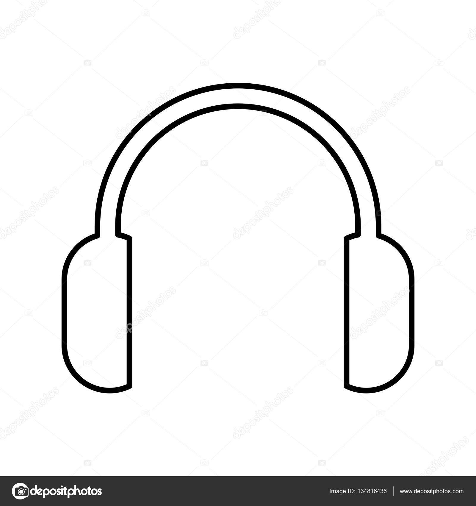 Kopfhörer audio-Gerät isoliert Symbol — Stockvektor © yupiramos ...