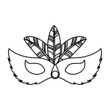 carnival mask tropical icon
