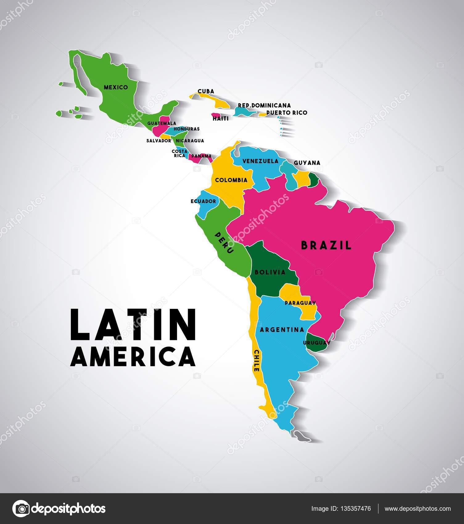 Carte Cuba Amerique.Carte De L Amerique Latine Image Vectorielle Yupiramos C 135357476
