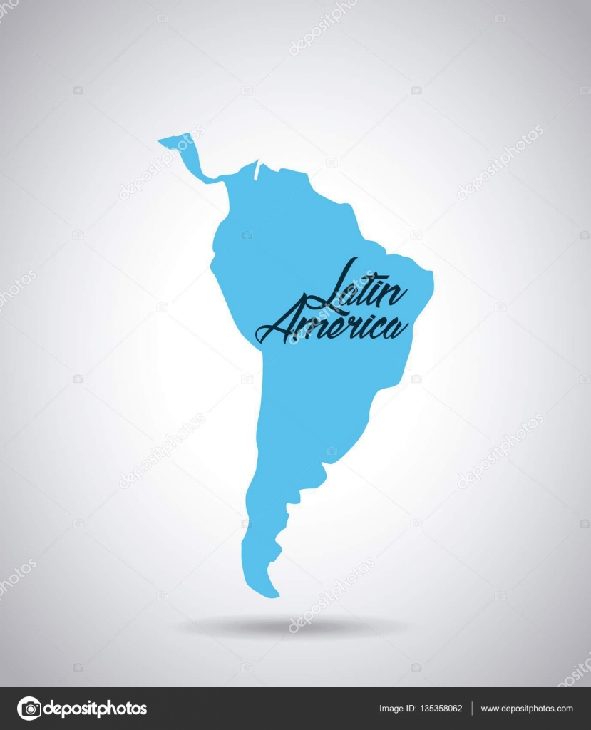 Latin america map stock vector yupiramos 135358062 latin america map icon over white background vector illustration vector by yupiramos sciox Choice Image