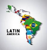 Fotografie latin america map