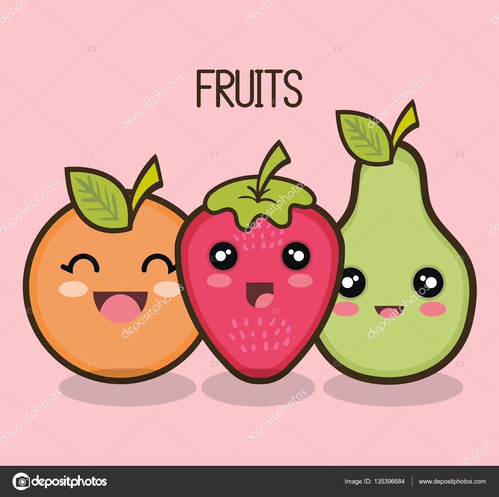 diseño de dibujos animados frutas archivo imágenes vectoriales
