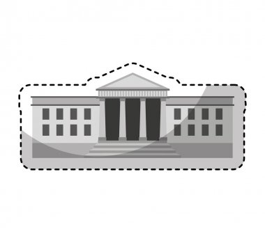government building isolated icon