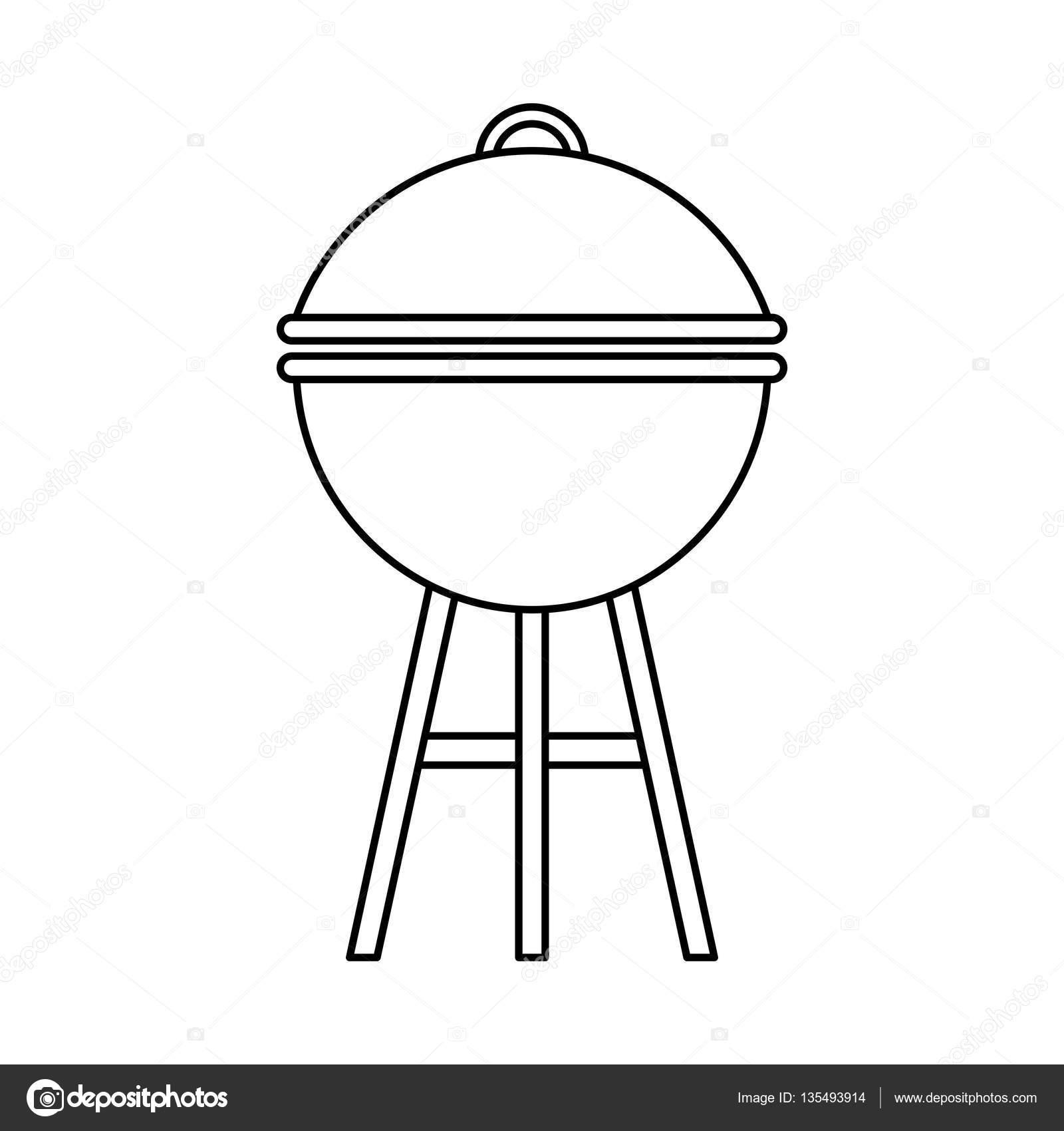 Backofen Grill Bbq Symbol Stockvektor C Yupiramos 135493914